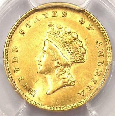 1854 Type 2 Indian Gold Dollar (G$1 Coin) - PCGS AU Detail - Rare - Nice Luster!