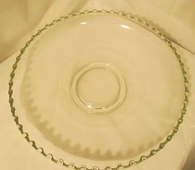 """VINTAGE IMPERIAL CANDLEWICK 11"""" Beaded Bowl Plate Platter Server Serving Piece"""