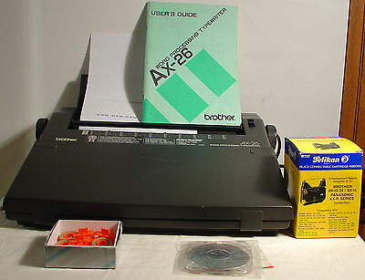 Brother AX-26 Word Processing Typewriter Electronic w Key Cover Tested Extras