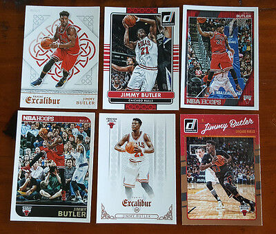 Jimmy Butler LOT of 6x all different cards - Chicago Bulls