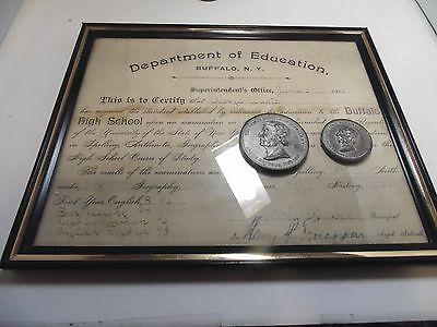 Jesse Ketchum Buffalo New York Medals And Certificate