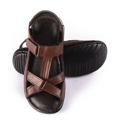 MENS GENUINE LEATHER---Handmade Cushioned Sandals- Leather lining