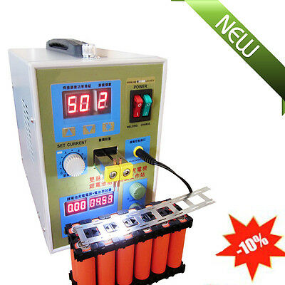 USA!! LED Dual Pulse Spot Welder Machine Battery Charger 800A 0.1-0.2mm Fast NEW
