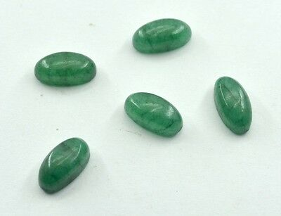 Indian Emerald Cabochon Green Oval gems 7x14 1 pc