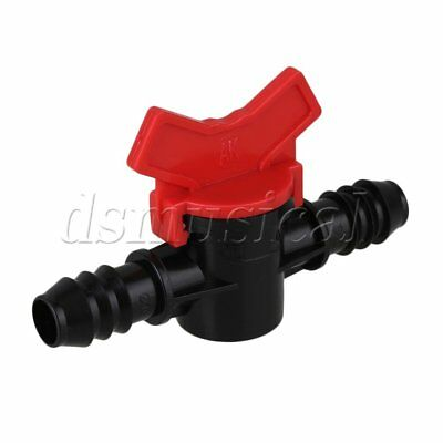 Drip Irrigation Barbed Valve Plastic Ball Valve Humidifier for 16mm PE Hose