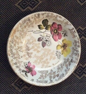 Wood & Sons Elegant Gold And Floral Dish