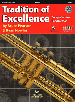 Tradition Of Excellence Book 1 Trumpet / Cornet, interactive practice studio.