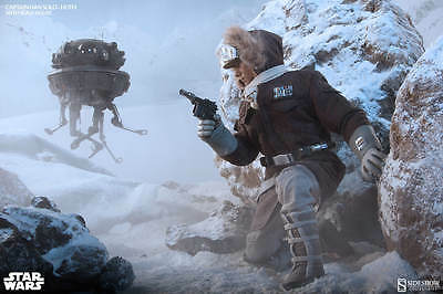 "Star Wars "" Han Solo Hoth "" New , Sideshow / Hot Toys scale"