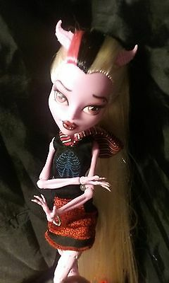 OOAK Monster High Bonita Femur Collector Doll Repaint by artist J.S.A.L.
