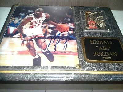 Michael Jordan 'Air' Signed Autographed Plaque With Certificate Of Authenticity