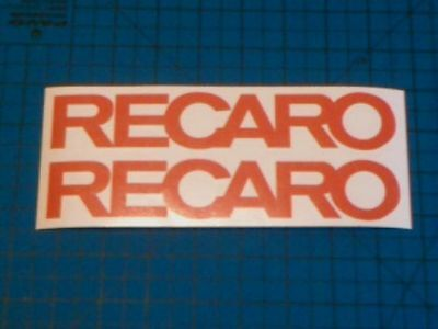 Recaro 2 200mm decal logo fit Body Glass All Colours