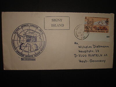 British Antarctic Territory : 1980 150th Ann of Royal Geophysical Socy on Cover