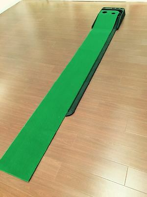 A Set of Portable Golf Practice Putting Mat Trainer Training Indoor Outdoor !*