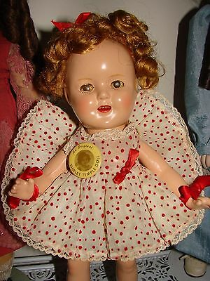 Antique Beautiful Ideal 13 Inch Shirley Temple Composition Doll Good Condition.