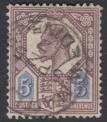 SG 294 Plum & Cobalt Blue F M30(5) in  fine used condition attractive dated CDS.