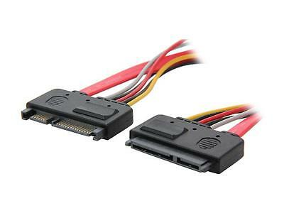 """StarTech SATA22PEXT 12"""" 22 Pin SATA Power and Data Extension Cable"""