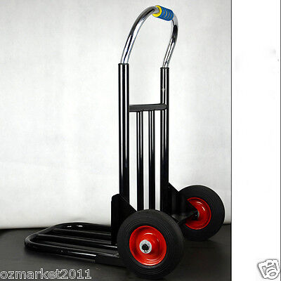 * New Convenient Black Durable Two Wheels Collapsible Shopping Luggage Trolleys
