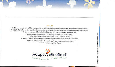 FDC 2 Isle of Man Happy Memories by Paul Mc Cartney  Adopt a Minefield