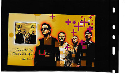 Block Irland Rock Legends 2002 postfrisch  U2