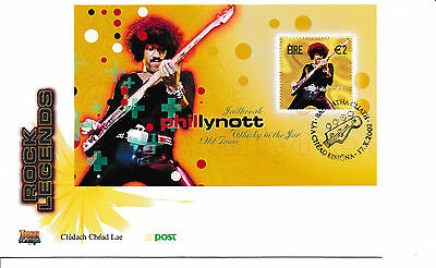 FDC Irland Rock Legends  2002 Block  Phil Lynott  Thin Lizzy