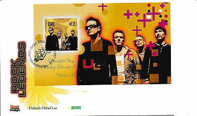 FDC Irland Rock Legends  2002 Block  U2