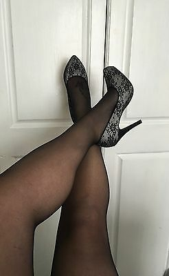 Worn Used Black Tights Size M