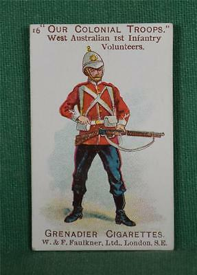FAULKNER CIGARETTE CARD OUR COLONIAL TROOPS No 16   (C162)