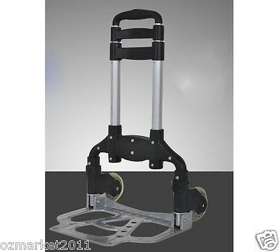 * New Black Two Wheels Convenient Collapsible Shopping Luggage Trolleys .