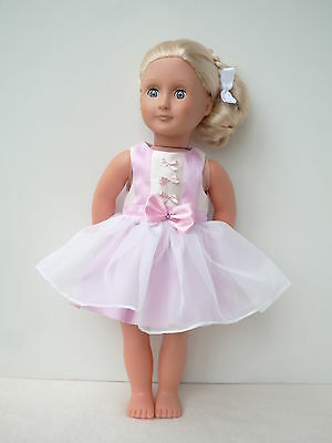 Pink  Party dress 18 dolls clothes,My friendCayla,Our Generation, American girl