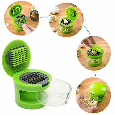 Garlic Press Chopper Slicer  Kitchen Tool Kit Hand Presser Grinder