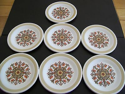 Seven Royal Worcester Palissy Side Plates - Marrakesh - Dia16cm