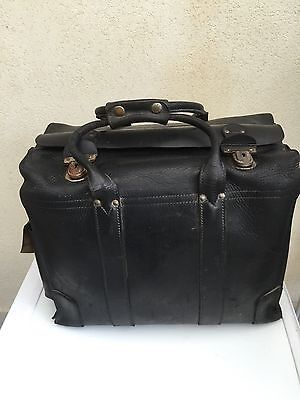 Valise Cuir De Pilote D Avion Air France Vin