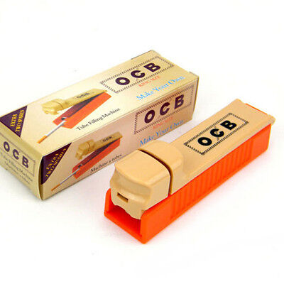 OCB 70MM Manual Single Tube Tobacco Roller Cigarette Injector Maker Machine Set