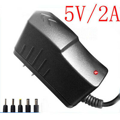 1x EU AC 100-240V Wall Power 5V 2A Charger DC Size 2.5x0.7mm/5.5x2.1mm/5.5x2.5mm
