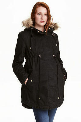 Maternity Coat jacket  Parka, size 14-16 Black New in packaging Size Medium