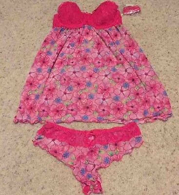 NWT Victoria Secret Babydoll Lingerie Set Size small