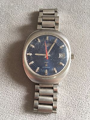 Longines Ultronic Cal 6332 Blue Dial Not Working For Parts