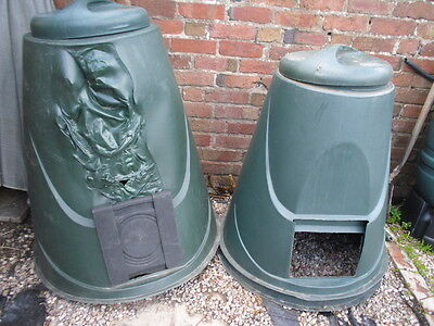 X3 Composting Bins, Large Sizes, Durable Plastic
