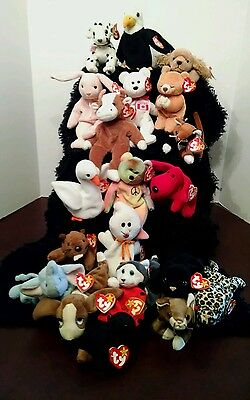 Ty Beanie Babies, Lot Of 21