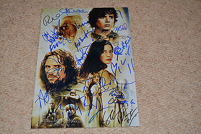 HERR DER RINGE 23x  signed Autogramm 20x30 cm In Person LEE , WOOD, BLOOM , LOTR