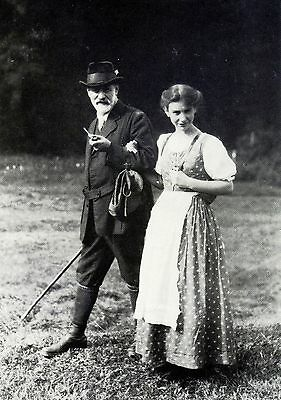 Sigmund Freud & Anna, his daughter, in the Dolomites 1913