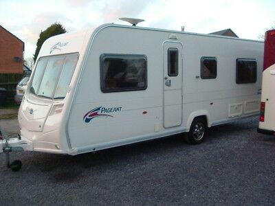 2008 Bailey Pageant Burgundy 4 Berth Fixed Bed Caravan, Porch Awning, Extras