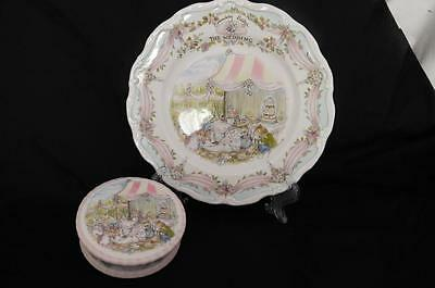 "Fabulous Royal Doulton Brambly Hedge The Wedding 8"" Plate & Tinket Box"