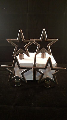 Cast Iron STARS STAR Finial Garden Statue Home Decor Rustic Ranch VINTAGE (E51)