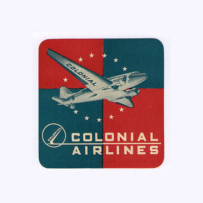 Airline luggage label Colonial Canada Scarce   #647