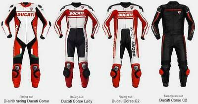 DUCATI Motorbike Leather Suit Motorcycle Custom Made CE  Any Size/Colour