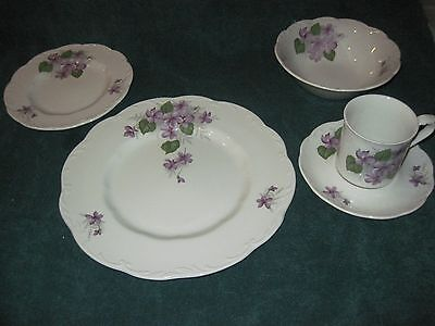Service for 12 J&G Meakin Sterling English Ironstone Pattern is English Violets