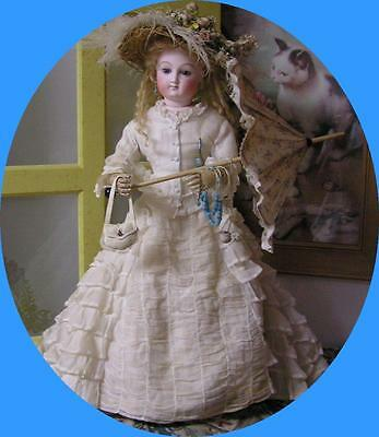 """Exquisite French Fashion - Bru - doll/22""""/jointed wood armsl"""