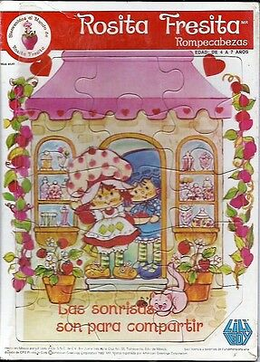 Strawberry Shortcake Rosita Fresita Spanish Language Jigsaw From Early 80's.