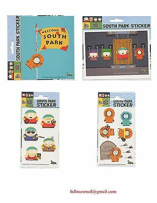 LOT 4 pcs Stickers decal South Park Kenny Stan Kyle Cartman Comedy Central